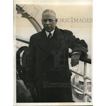 1933 Press Photo New York Albert M. Fischer, German beer brewing expert NYC
