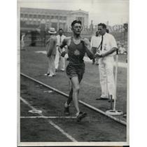 1933 Press Photo New York Max Bentul wins 5000m walk at Nat'l AAU Meet NYC