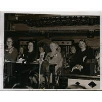 1935 Press Photo Women's Clubs Federation Convention  - nee96849