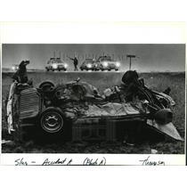 1987 Press Photo Man Killed near Reardon When Car Collided Head-on