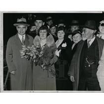 1934 Press Photo Soviet Ambassador & Mrs Alexander Troyanovsky in Chicago