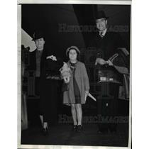 1940 Press Photo Col.Osvaldo Valencia Under-Secy. of War of Chile at Los Angeles