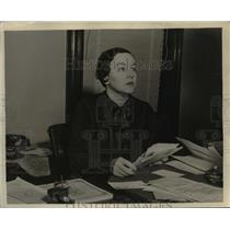 1937 Press Photo Ms.Mildred Thrasher, supervisor & Professional Projects of WPA