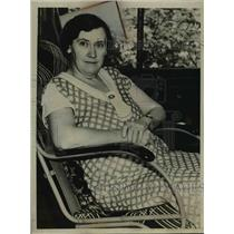 1937 Press Photo Harold Dahl's Mother, Ida Dahl  - nee95482