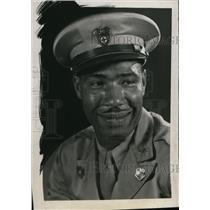 1945 Press Photo Former athlete Frank (Doc) Kelker, now Red Cross Field Director