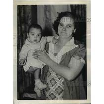 1938 Press Photo Mrs.Arthur Timleck winner of Toronton $500,000 Baby Derby