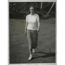 1934 Press Photo Golfer Maureen Orcutt plays at Florida Women's Championship