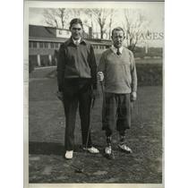 1932 Press Photo Golfers Walter Scheiser and John Loftus during Hillcrest Pro-Am