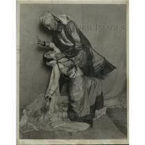 1921 Press Photo Olivia Orth Anderson and Charles Mercein, Acting - mjx02004