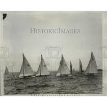 1933 Press Photo Yachts gather for International Star Class Yacht Regatta in CA