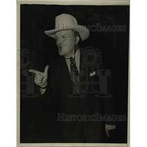 1938 Press Photo James Farley running for sheriff in Essex County Texas