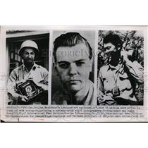 1950 Press Photo Frank Emery Charles Rosecrans Ken Inouye killed in plane crash