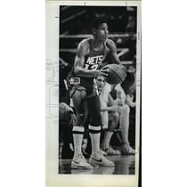 1980 Press Photo Darwin Cook, New Jersey Nets - orc15396