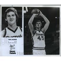 "1978 Press Photo Tom Lagarde, C, 6'10"", North Carolina, Denver Nuggets"