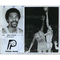 1987 Press Photo #40 James Edwards, C, 7-1, Washington, Indiana Pacers