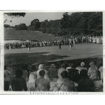 1932 Press Photo Women's National Amateur golf Enid Wilson, Mary Browne in MA