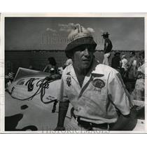 1975 Press Photo Beau Adams high school boat race driver - net10205