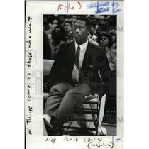 1986 Press Photo At a recent Blazer home game, Walter Berry on the bench.