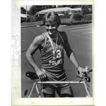 1983 Press Photo Eric Hansen, 19 Lake Oswego won gold medal last week.