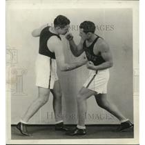 1929 Press Photo Martin Andrews vs Alfred B Wolff Penn State boxing team