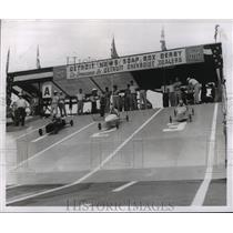 1955 Press Photo Detroit Soap Box Derby race - mjx04937