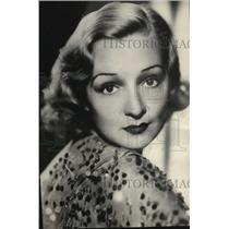 1934 Press Photo Florence Desmond, Actress - mjx03618