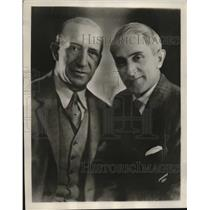 1929 Press Photo Weber & Fields to star in Majestic Theater of Air program