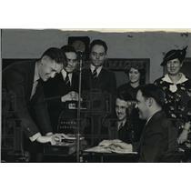 1938 Press Photo Herbert L Webster, winner in Quiz Bee contest at WTMJ radio