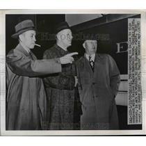 1950 Press Photo Charley Grimm, Dick Burnett & Bob Goff of DallasEagles