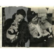 1939 Press Photo Mrs. Carl Eklund Holding Puppy - mjx04025