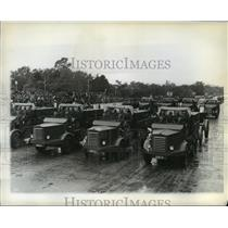 1942 Press Photo Truck of the Argentina army's engineering corps in Buenos Aires