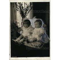 1920 Press Photo Doctor's Babies Gordon & Gary T. Grayson at White House