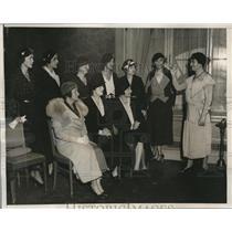 1932 Press Photo Members Of The Speakers Bureau Of Women's Organization