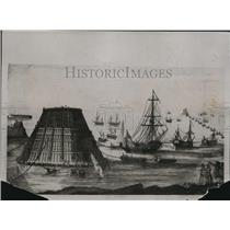 1920 Press Photo Old Print of Ships Towing Cone in Race of Cherbourg - ney14022