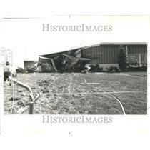 1977 Press Photo Private Jet Crash Lewis Intl Building