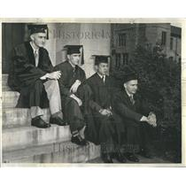 1942 Press Photo Member School Graduate John Chicago