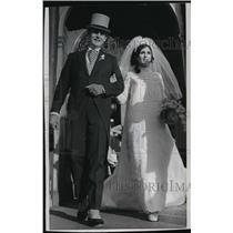 1969 Press Photo Don Horn, Green Bay Packer Quarterback marries Barbara Heffner