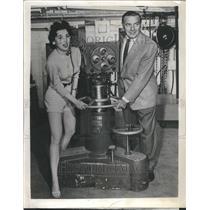 1957 Press Photo Ted Mack Kim Townsend Actress