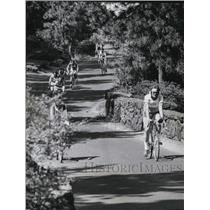 1978 Press Photo Bicycle Marathon at Manito Park for Cystic Fibrosis Foundation
