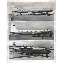 1958 Press Photo Airplanes