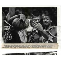 "1988 Press Photo The Cavs, John ""Hot Rod"" Williams looses the ball  - cvb64006"
