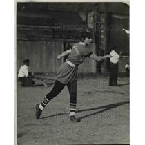 1934 Press Photo Lillian Billie Bilchik, Short Stop for Midyale Oil - cvb64481