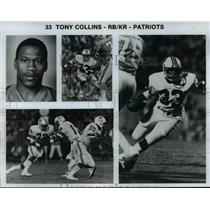 Press Photo Tony Collins, Running Back for Patriots - cvb69292
