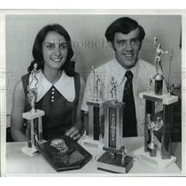 1973 Press Photo Dan & Mary Barringer Howells Jr. High Basktball - cvb72452