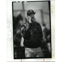 1989 Press Photo Euclid High school Baseball coach Paul Sena - cvb72541