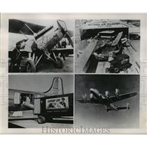1947 Press Photo Four airlines and Railway Express Agency's predecessor