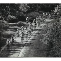1982 Press Photo The United Performing Arts Fund ride move along the bike path
