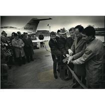 1989 Press Photo Sen Bob Kasten, Bob Kunkel, John Hilger & Peter Schoeninger