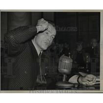 1941 Press Photo Al Williams, Aviation Expert testified at Senate - nef05455