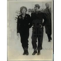 1928 Press Photo Signoria Edda Mussolini and Countess Marisa Bonacossa